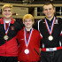 BASH wrestlers win medals at States. From left: Lucas Miller, Tommy Killoran,  Jakob Campbell, Jordan Wood, and Gregg Harvey