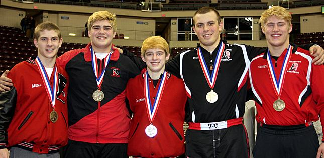 Wrestling Team Places 4th at States