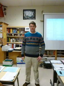 Mr. Kusniez's sweater for Ugly Sweater Day!