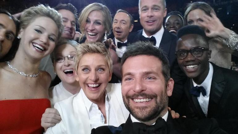 Oscar host Ellen DeGeneres takes a star studded selfie