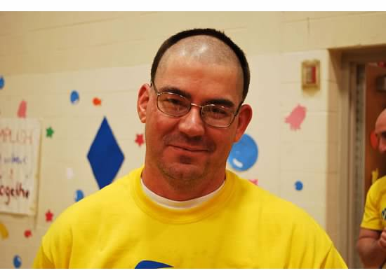 Since+over+%241%2C000+was+donated+during+school%2C+by+lunch+on+Friday%2C+Student+Council+Advisor+Mr.+Kusniez+kept+his+promise+to+shave+his+head.