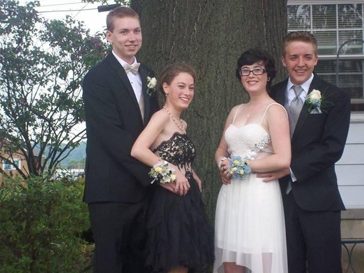 (Left to right) Alex Casper, Jessica Kramer, Brittany Kramer, Noah Taylor