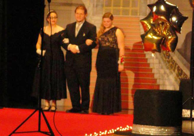 Reina Paredes, Kaleb Harwick, Shannon Schell, left to right