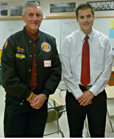 Veteran Charlie Becker and Mr. Bleiler
