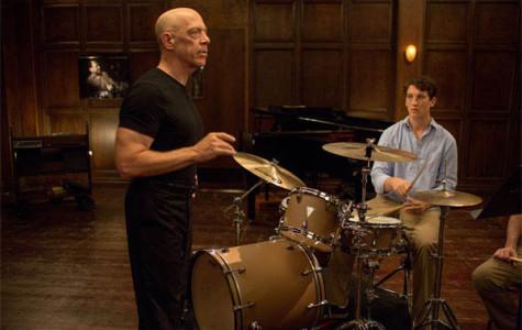 J.K Simmons (left) and Miles Teller (right) in Whiplash.