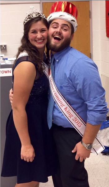 Homecoming King Jake Irvin and Queen Mandy Kalil