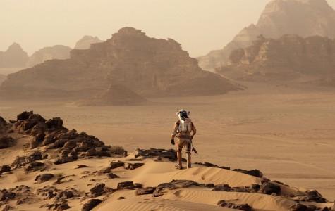 Matt Damon stuck on Mars in The Martian.