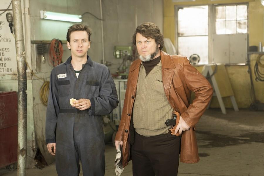Nick Offerman  (right) makes a welcome return in Fargo.