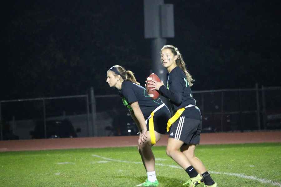 Pictured above is quarterback Sarafina Valenti, and Taylor Sassman