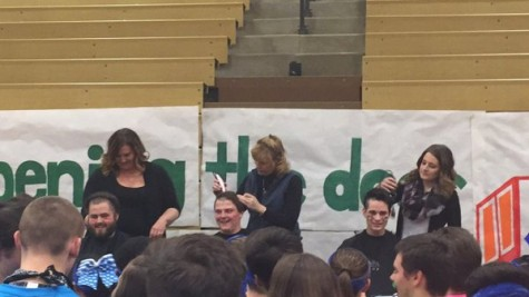 Participants get their heads shaved at the event to help children with cancer