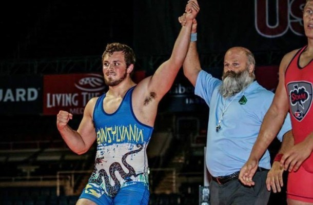 Jordan Wood wins the Pennsylvania State Wrestling Championship in 2015.