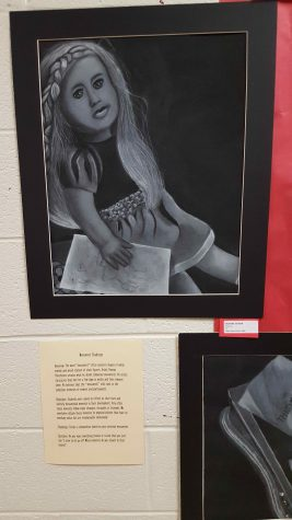 Art students' Personal Monuments were among pieces displayed at Art Expo.