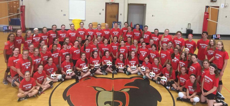 Many students participated who participated in the Lady Bears Volleyball Summer Camp played on the school's club team this year. Volleyball will be a varsity sport in the fall.