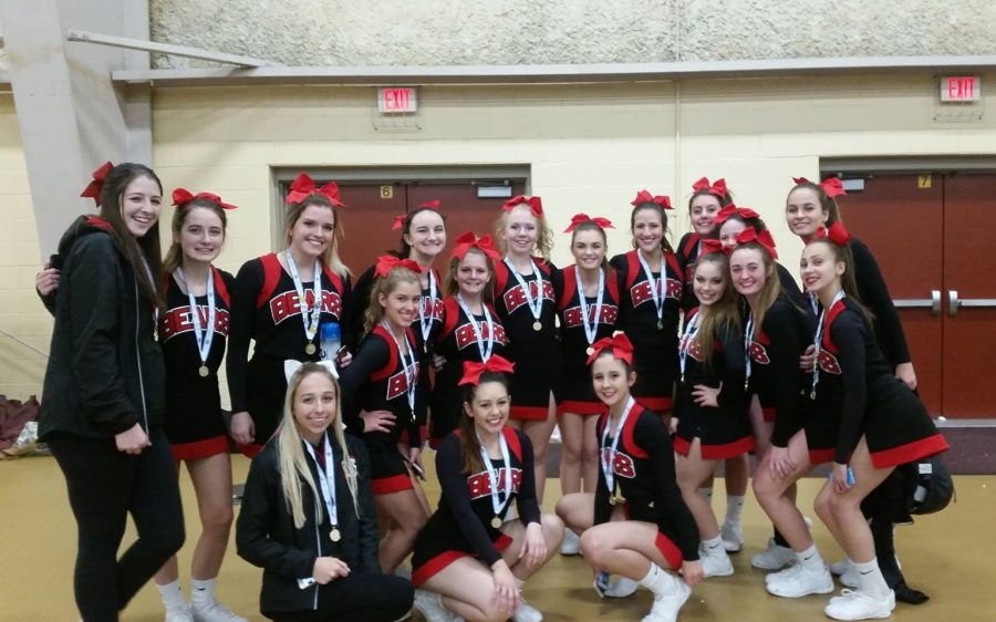Cheerleaders+Compete+For+First+Time