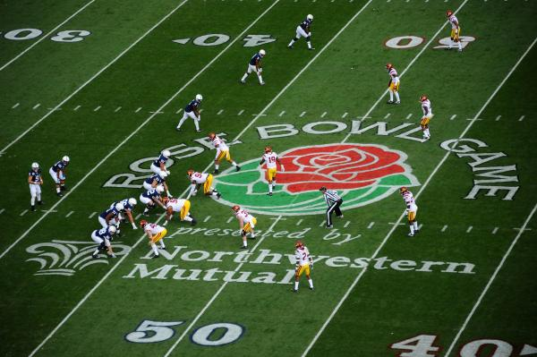 USC beat Penn State in the final play of the Rose Bowl.
