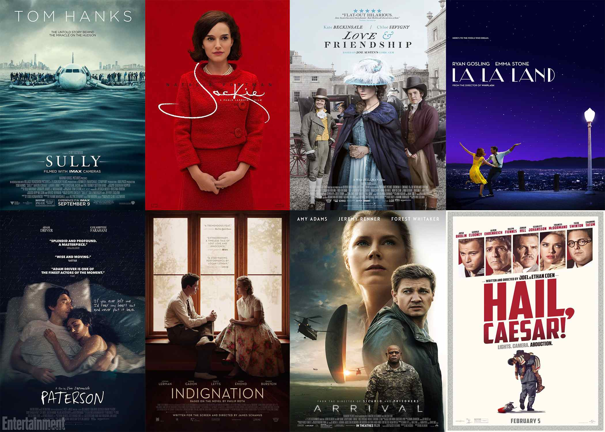 top rated movies 2016 and 2017