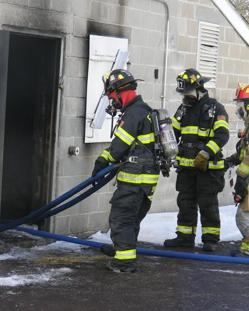 David Reitnauer trains with the Eastern Berks Fire Company, where he is a volunteer firefighter.