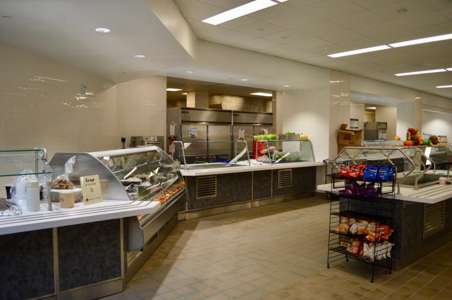 The renovated cafeteria includes new food options.