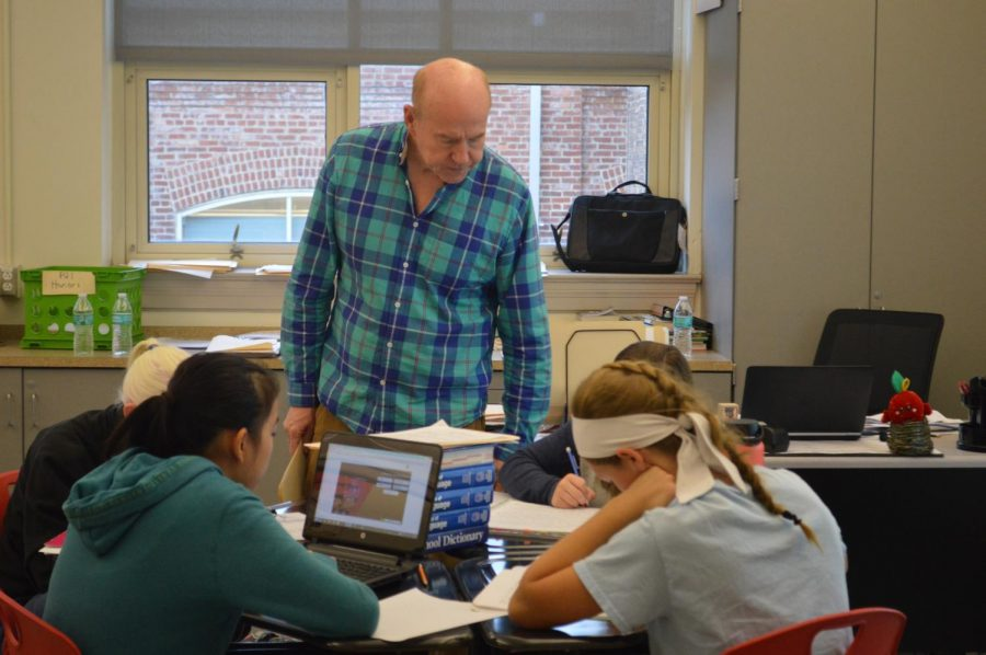 Mr.  John Phelan teaches freshmen English classes.
