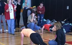 Mrs. Johnson and Mrs. Gillman reached 300 pushups each in the Veterans Day Contest.