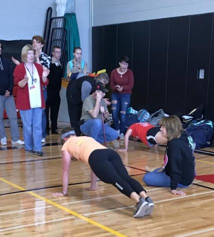 Teachers Push Themselves in Veteran's Day Contest