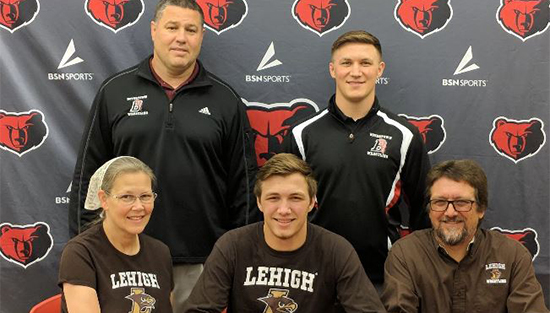 Elijah Jones makes his commitment to Lehigh University with his parents and coach/brother Mr. David Jones