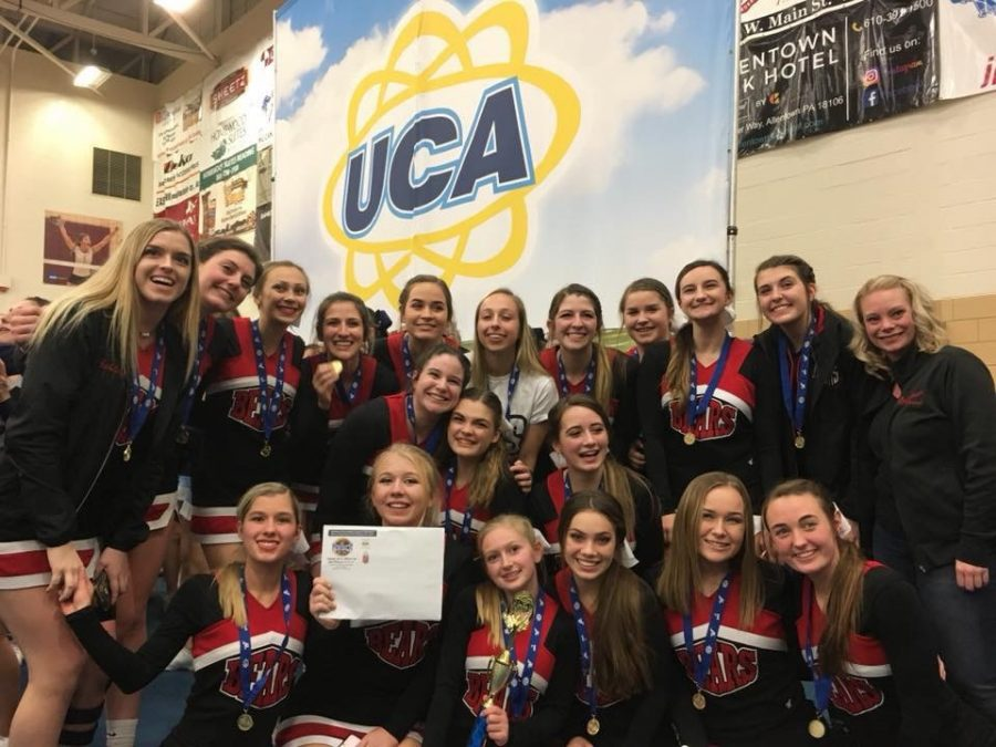 Boyertown Cheer Squad cheeses hard after hearing they qualified for nationals
