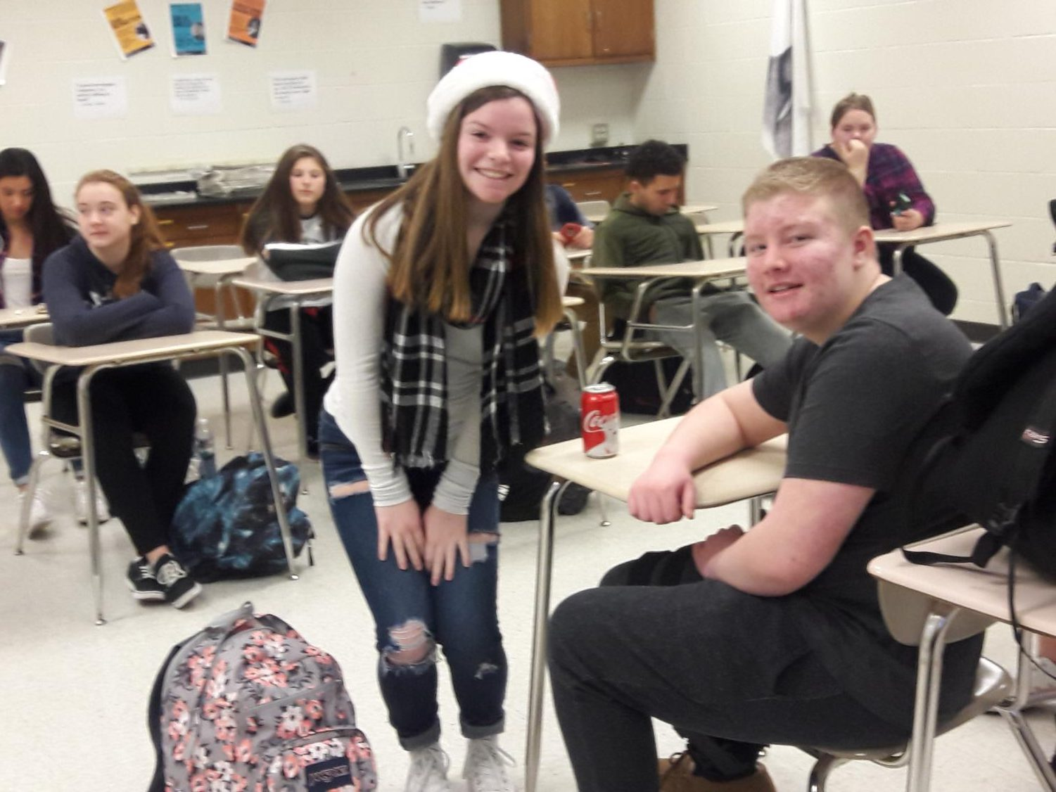 Sophomore Nick Ruppert was granted his wish of a Coke on Tuesday.