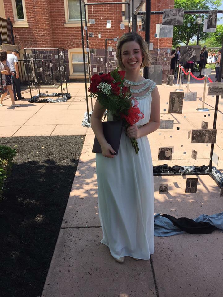 Caitlyn Kondradt, graduating from Upper Perkiomen High School in the class of 2015. She spent her freshman college year at Mass. Art, but transferred to Juniata College for her sophomore year.