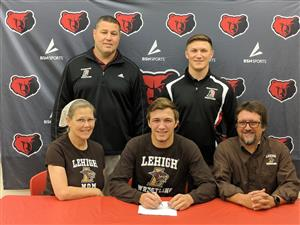 Elijah Jones signs with Lehigh University.