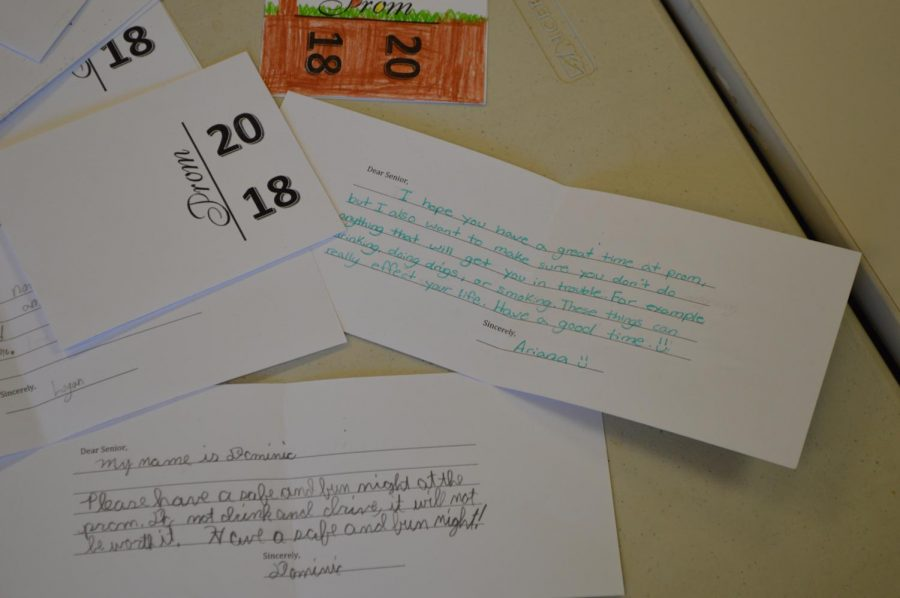 Fifth graders wrote seniors letters telling them to stay sober on prom night.