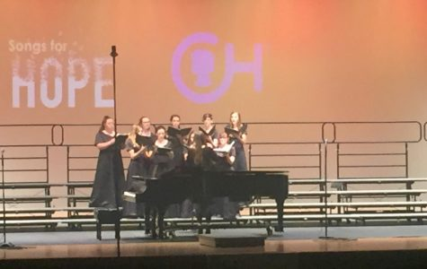 The Pottsgrove High School Women's Choir sings at Songs for Hope.