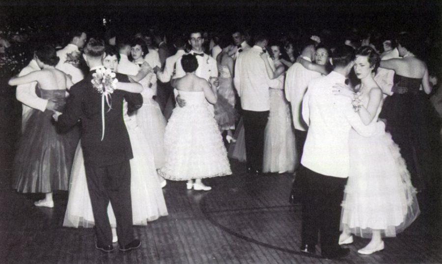 In 1944, a Junior/Senior Prom was held in the old gym.