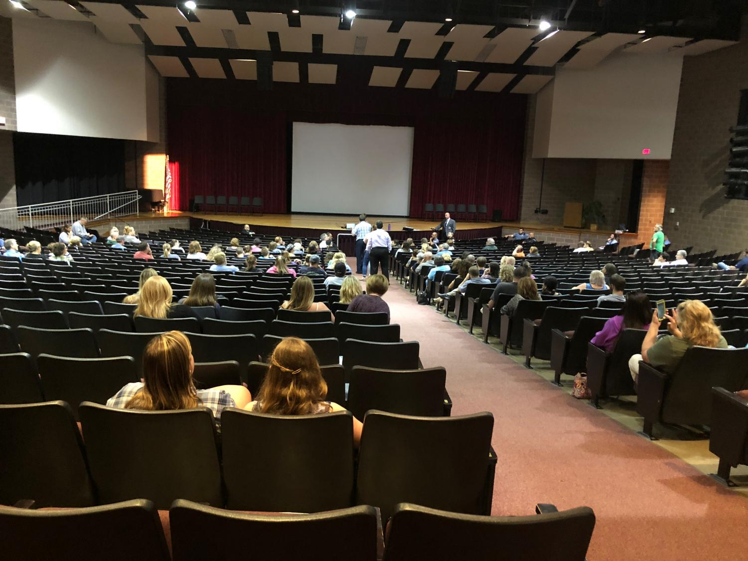 A Town Hall meeting was held at the high school Thursday evening to address recent rumors and safety concerns.