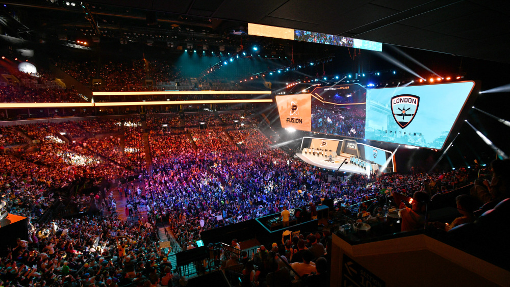 NEW YORK, NY - JULY 28: A view of the arena as Philadelphia Fusion play London Spitfire during Overwatch League Grand Finals - Day 2 at Barclays Center on July 28, 2018 in New York City.  (Photo by Bryan Bedder/Getty Images for Blizzard Entertainment )