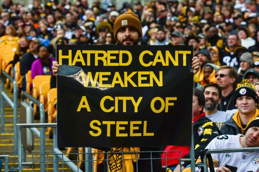 Steelers fans united just a day after the Tree Of Life Synagogue shooting on Saturday as the Steelers beat rival Cleveland Browns 33-18 on Sunday.