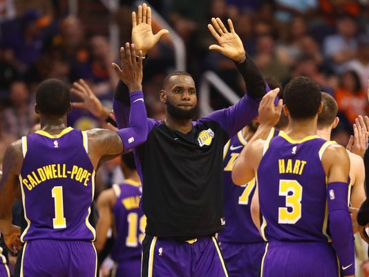 LeBron James Congratulates Teammates on Win