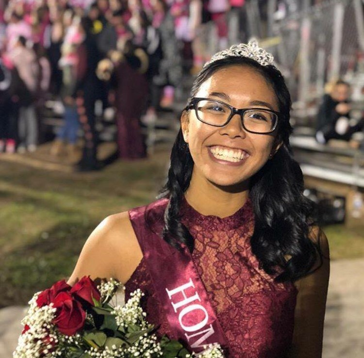 Samantha Rayco was announced Homecoming Queen at Friday's football game.