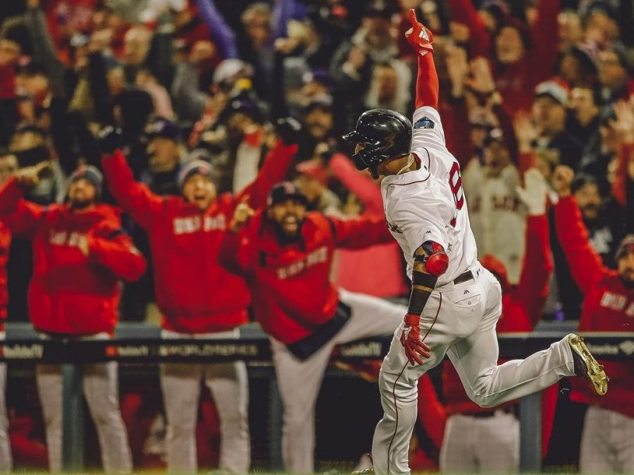 Red+Sox+Eduardo+Nunez+rounds+first+after+clutch+home+run+to+win+it+for+Boston