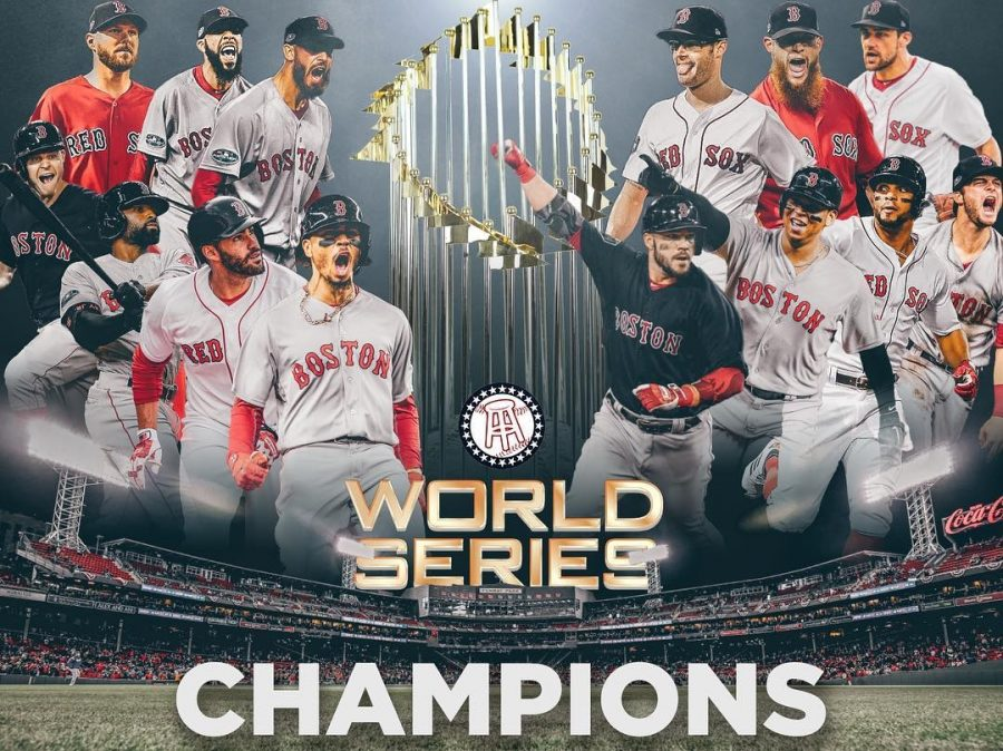 The+Boston+Red+Sox+have+claimed+their+4th+championship+title+since+2004+with+the+defeat+of+the+Dodgers+on+Sunday+night.