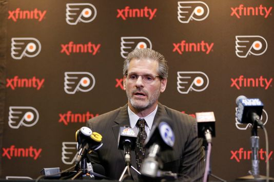 Recently Flyers' general manager addresses the media. He was dismissed of his role by the team on Monday.