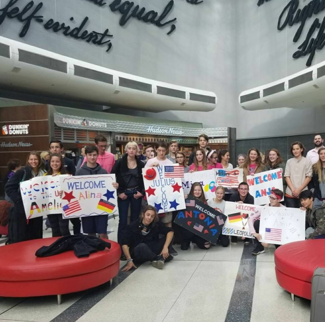 GAPP students are greeted by their host students when they arrived at the airport a few weeks ago.