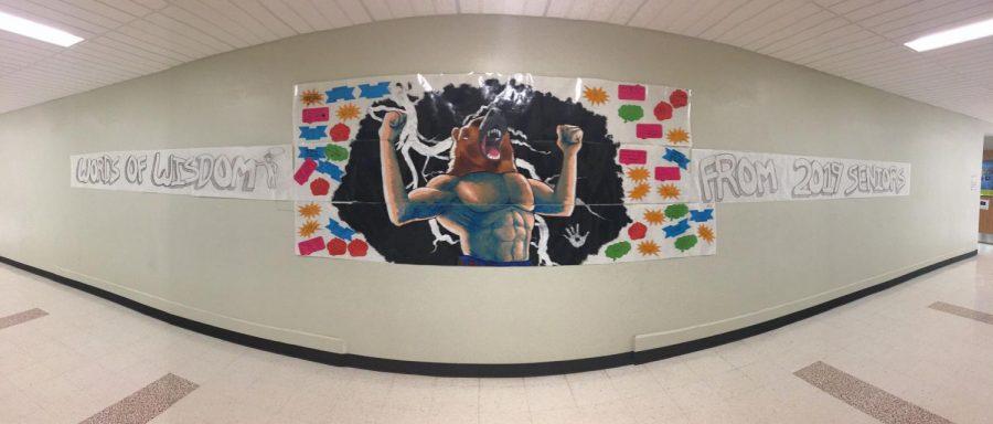 Seniors Create Mural for Freshmen