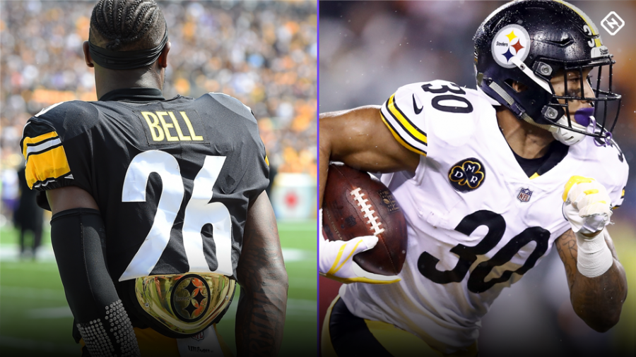 Steelers%27+running+back+Le%27veon+Bell%27s+holdout+has+allowed+sophomore+running+back+James+Conner+to+emerge+as+one+of+the+best+running+backs+in+the+game.
