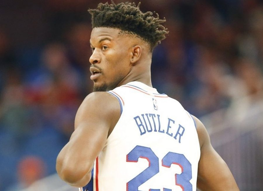 Jimmy+Butler+collected+14+points%2C+4+rebounds%2C+and+2+assists+in+his+Sixers%27+debut+Wednesday+night%2C+as+the+Sixers+fell+111-106+to+Orlando.
