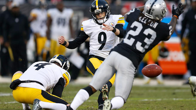 Steelers+kicker+Chris+Boswell+slips+as+the+Steelers+literally+fall+to+Oakland+on+Sunday.