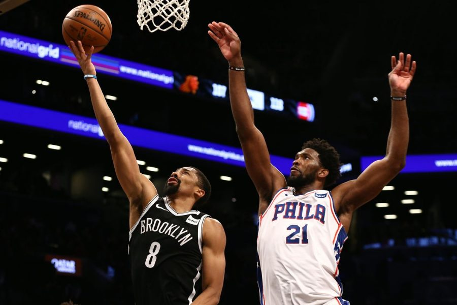 Brooklyn+Nets%27+Spencer+Dinwiddie+had+a+career+night+in+the+win+vs+the+Sixers%2C+despite+Joel+Emiid%27s+33+point+night