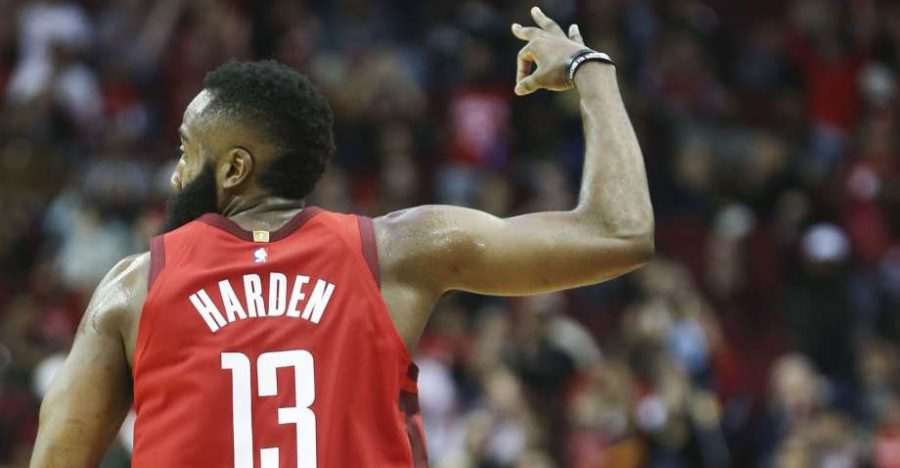 James+Harden%27s+40+Point+Triple-Double+Lifts+Rockets+Over+Warriors