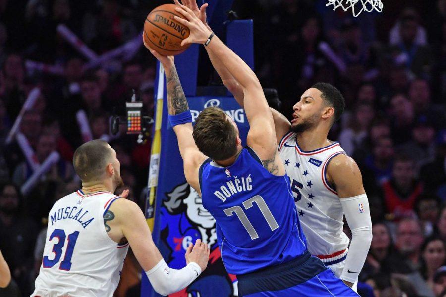 Sixers%27+Ben+Simmons+Blocks+Mavericks%27+Luka+Doncic%27s+attempt+as+the+Sixers+beat+the+Mavericks+on+Saturday.