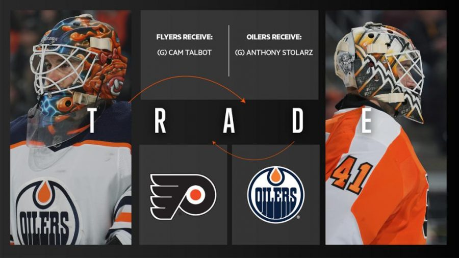 The+Philadelphia+Flyers+and+Edmonton+Oilers+completed+a+trade+to+swap+goalies+Cam+Talbot+and+Anthony+Stolarz.